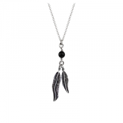 BLACK-PEARL-FEATHER-NECKLACE