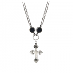 DOUBLE-STONES-CROSS-NECKLACE