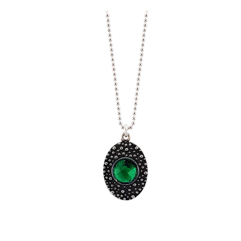 DOTTED-SINGLE-GREEN-STONE-NECKLACE