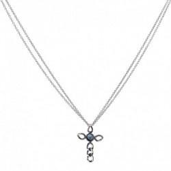 SMALL-EMATITE-CHAIN-CROSS-NECKLACE