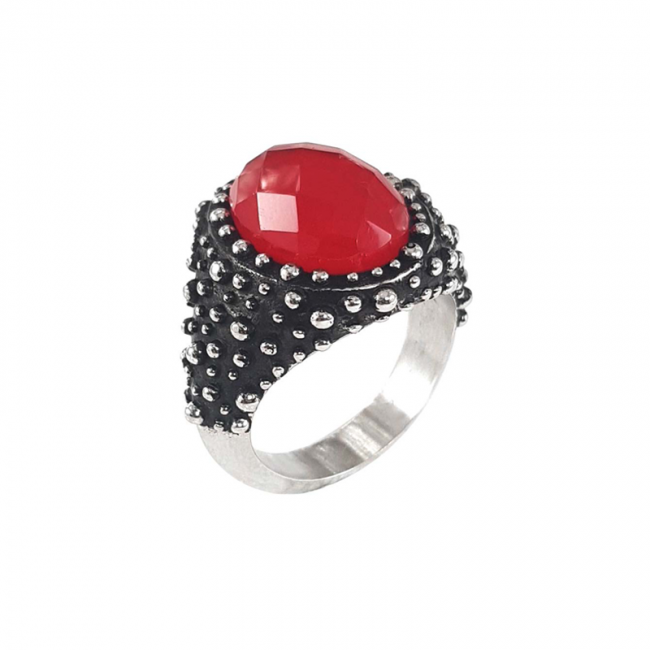 DOTTED-STORM-RED-STONE-RING